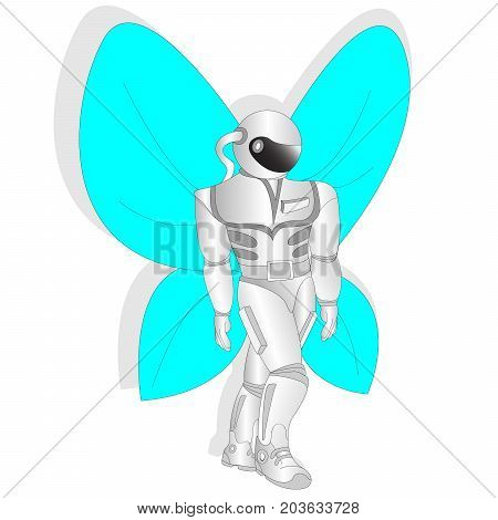 Cosmonaut, Astronaut With Butterfly Wings