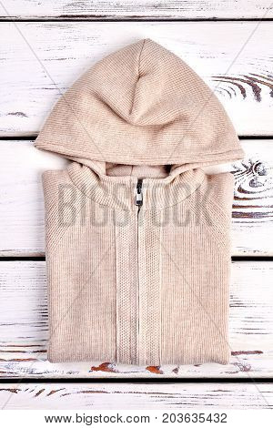 New folded knitted hooded cardigan. Cotton knitwear for kids on sale. Top quality warm hooded sweater for childrens.