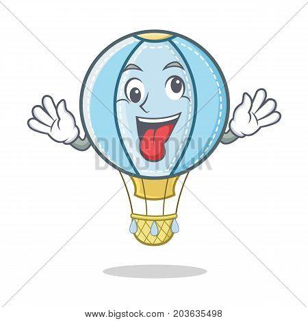 Crazy air balloon character cartoon vector illustration