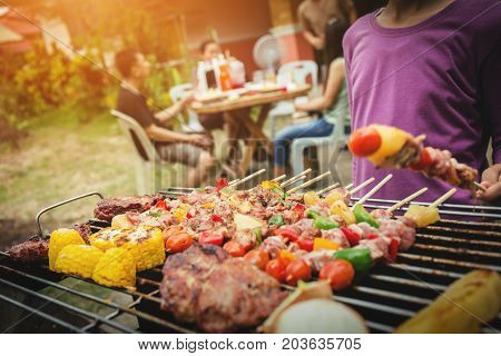 Bbq Food Party Summer Grilling Meat.