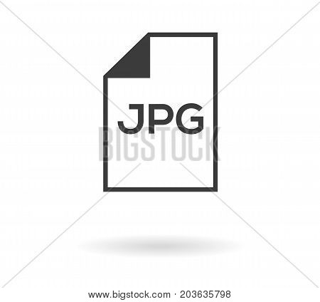 Simple Greyscale Icon Of Sheet (file) And Jpg Text Inside