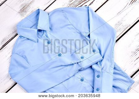 New light blue formal shirt. Girls beautiful brand long sleeve blue blouse. Delicate blue button shirt.