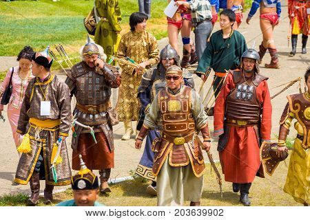 Naadam Festival Opening Ceremony Warriors Armor
