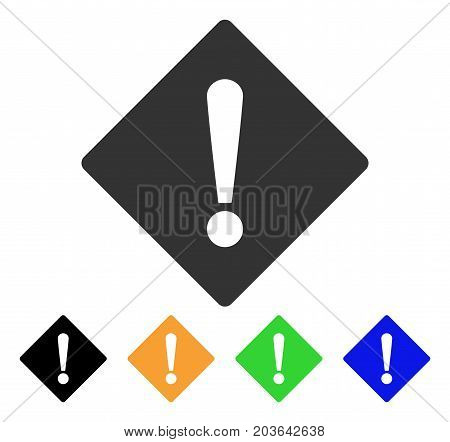 Error icon. Vector illustration style is a flat iconic error symbol with black, gray, green, blue, yellow color versions. Designed for web and software interfaces.
