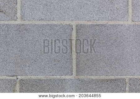 Clean and straight cinder block wall background texture closeup