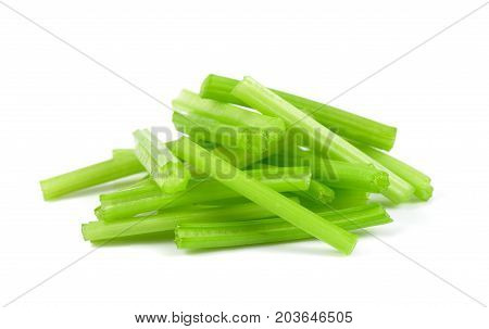 Fresh celery isolated on white background celery for cooking