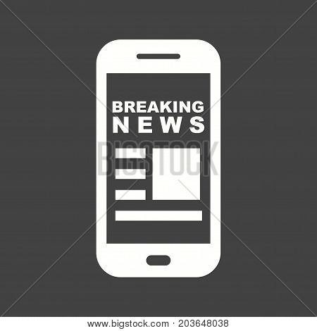 News, online, mobile icon vector image. Can also be used for news and media. Suitable for mobile apps, web apps and print media.