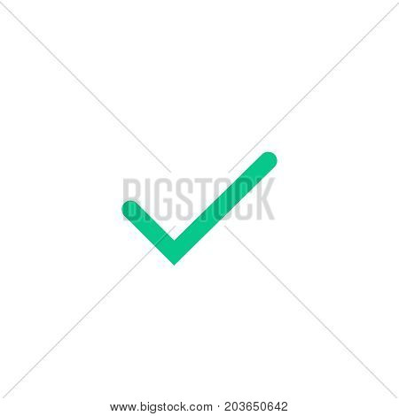 Tick and cross checkmarks flat icons. Hand drawn vector illustration isolated on a white background. Acceptance of voting results. Premium quality.