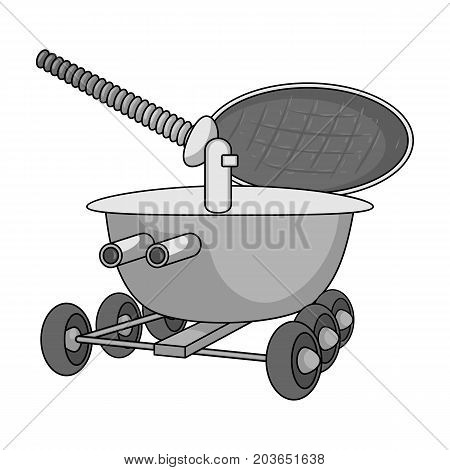 The spacecraft, Lunokhod. Space technology single icon in monochrome style vector symbol stock illustration .