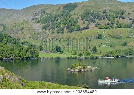 Lake shore path, Ullswater, English Lake District