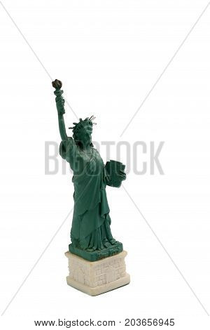 Statue Of Liberty On Liberty Island In New York Harbor In New York City In The United States, Isolat