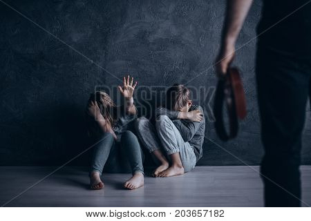 Children Hiding From Strict Punishment