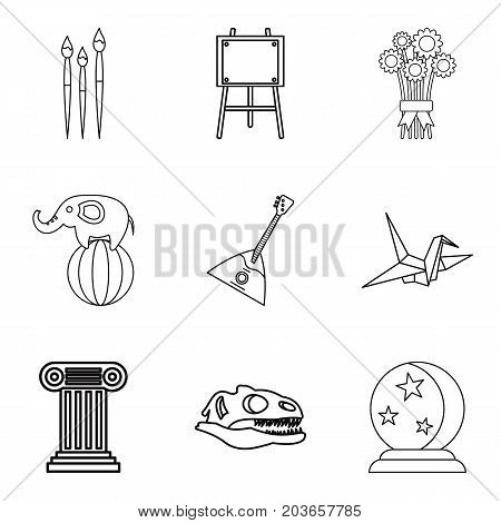 Unforgettable performance icons set. Outline set of 9 unforgettable performance vector icons for web isolated on white background