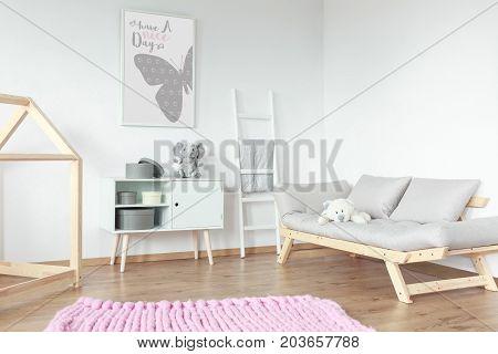 Wooden Elements In Kid Room
