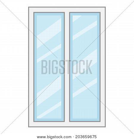 Facade window frame icon. Cartoon illustration of facade window frame vector icon for web
