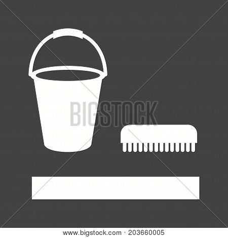 Floor, cleaning, mop icon vector image. Can also be used for Cleaning Services. Suitable for mobile apps, web apps and print media.