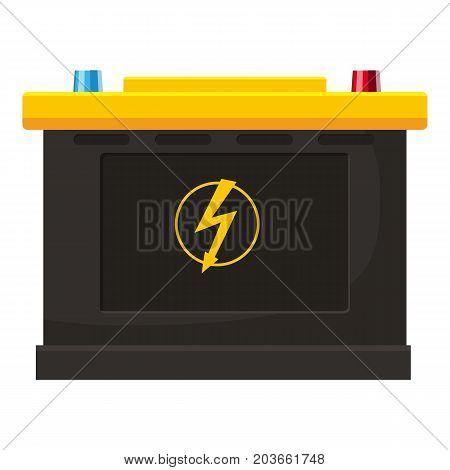 Accumulator battery icon. Cartoon illustration of accumulator battery vector icon for web