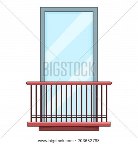 Narrow balcony icon. Cartoon illustration of narrow balcony vector icon for web