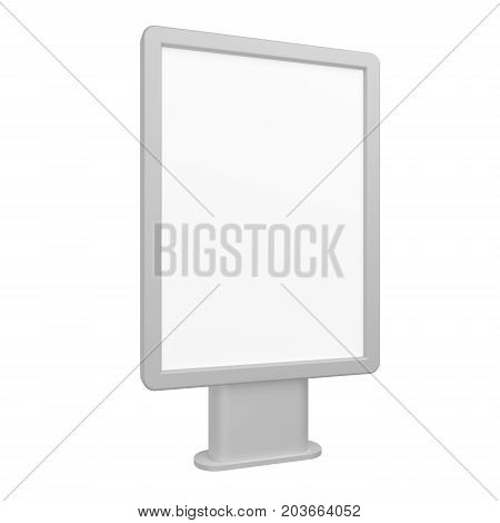 Blank 3D rendering light box mock-up isolated on white.