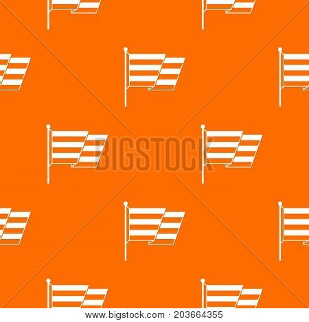 Flag LGBT pattern repeat seamless in orange color for any design. Vector geometric illustration