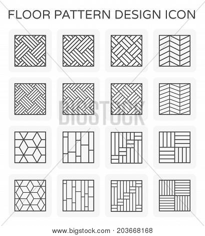 Vector line icon of floor pattern design.