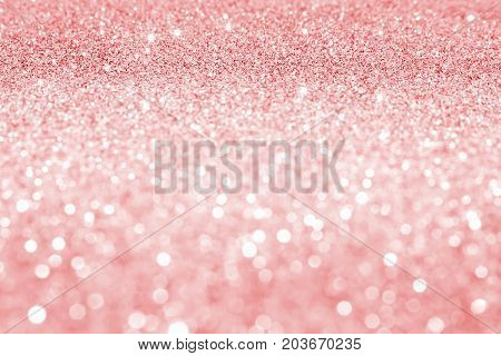 beautiful red sequins on the vagueness of the background