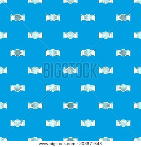 Drain pipe pattern repeat seamless in blue color for any design. Vector geometric illustration
