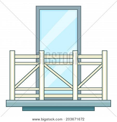 Modern balcony icon. Cartoon illustration of modern balcony vector icon for web