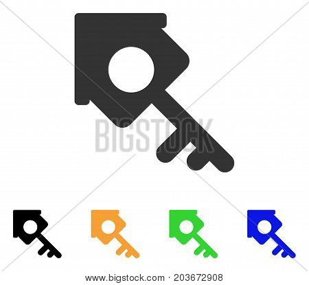 Realty Access icon. Vector illustration style is a flat iconic realty access symbol with black, grey, green, blue, yellow color variants. Designed for web and software interfaces.