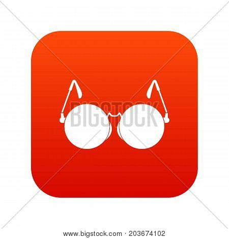 Glasses for blind icon digital red for any design isolated on white vector illustration