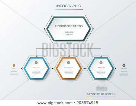 Vector infographics timeline design template with label design and icons 5 options or steps. Can be used for content, business, process, infographics, diagram, chart, digital network, flowchart, process diagram, time line poster