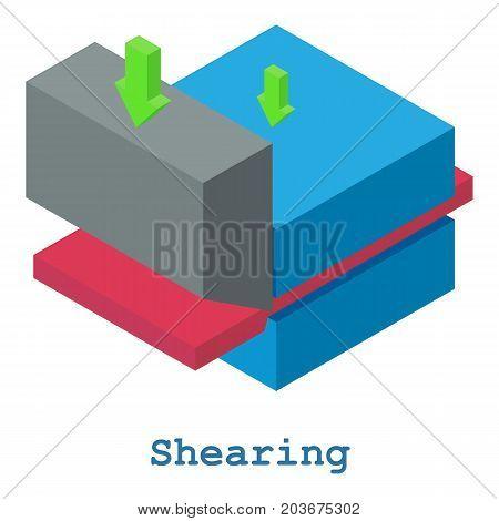 Shearing metalwork icon. Isometric illustration of shearing metalwork vector icon for web
