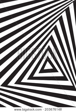 Optical illusion backgraund. Abstract black Vector Illustration