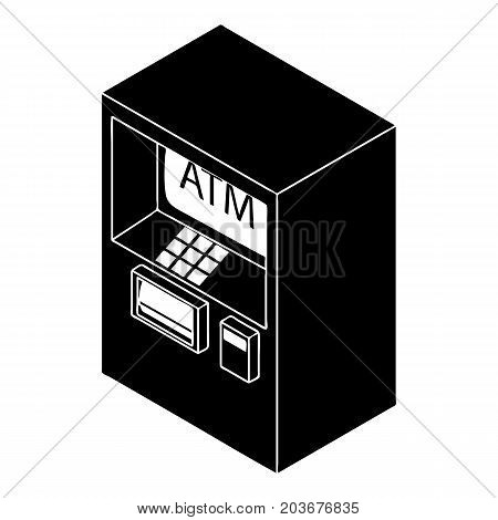 Atm icon. Simple illustration of atm vector icon for web design isolated on white background