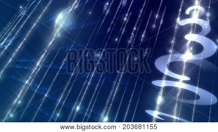 Light Sparkling Cyberspace Shot Diagonally