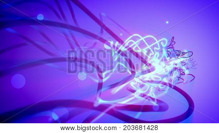 Abstract Illustration Of Colored Spiral Strokes