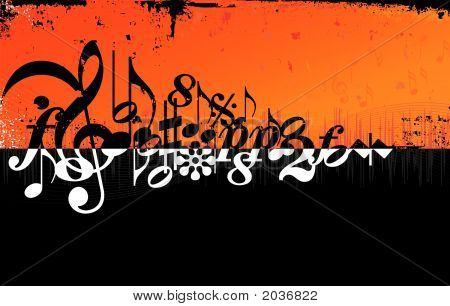 Grunge Music Background