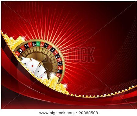 Fond avec des éléments de casino de jeu