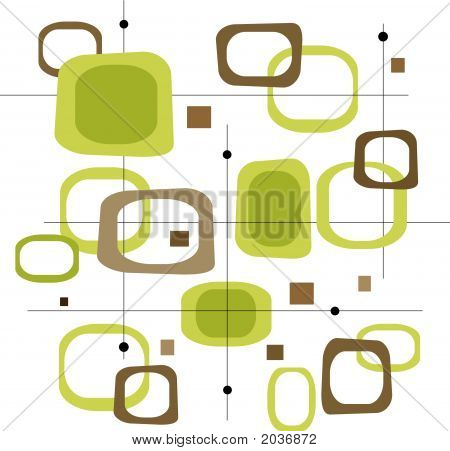 Retro Green Squares