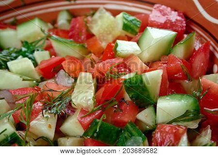 Arab salad  , close up vegetable meal