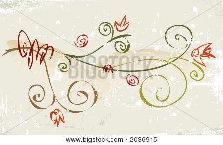 Rustic Grunge Flower
