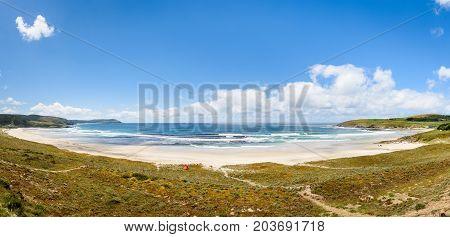 Tropical Sandy Beach And Sea Of Atlantic Ocean In Spain.