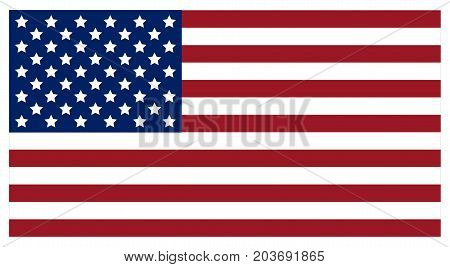 Flag of the United States of America. Vector.