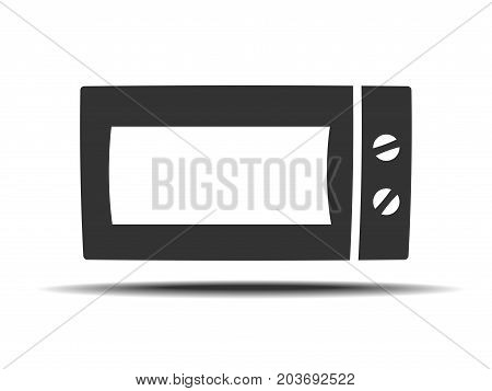 Microwave vector icon. Home appliances symbol. Modern, simple flat vector illustration for web site or mobile app