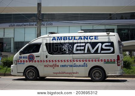 Ambulance Van Of Maejo Subdistrict Administrative