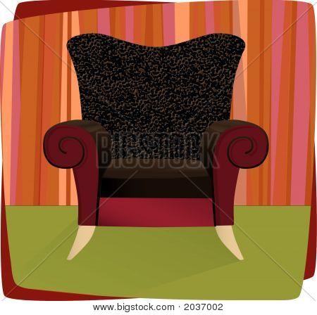 Leopard Velvet Armchair