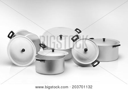 Kitchen Pan On A Light Background