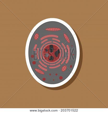paper sticker on stylish background cell medicine