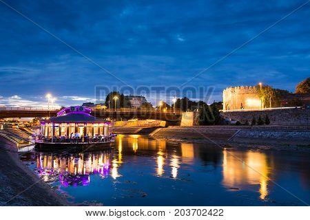 Nis, Serbia - September 8, 2017: Nis Fortress Entrance Reflected