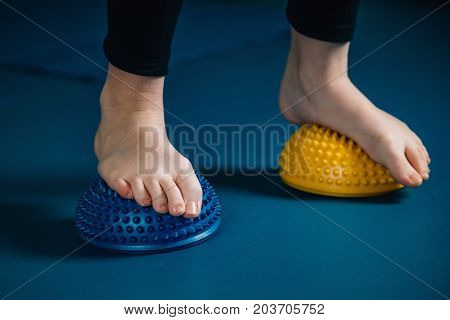 Physical Therapy Tools For Flat Feet-   Balance Pod, Selective Focus, Toned Image